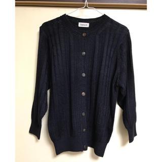 絹  紺ニットスーツ(スーツ)
