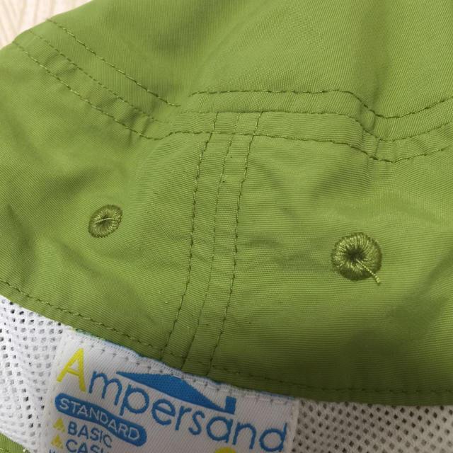 ampersand(アンパサンド)のampersand メッシュキャップ 帽子 グリーン 52cm キッズ/ベビー/マタニティのこども用ファッション小物(帽子)の商品写真