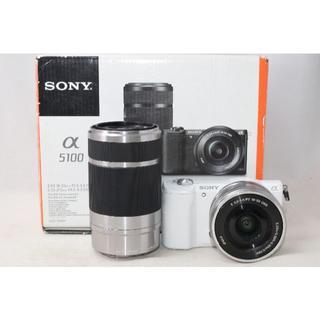 SONY - 展示品☆Sony α5100 ILCE-5100Y ダブルズーム ホワイト