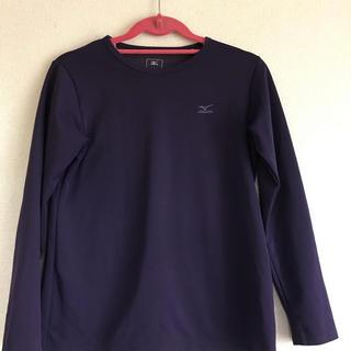 ミズノ(MIZUNO)のミズノ  長袖  Tシャツ  バイオレット Lサイズ(登山用品)