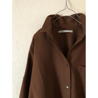 DEUXIEME CLASSE - upper hights アッパーハイツ ブラウン ウールシャツ