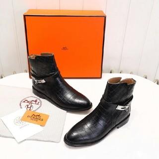 Hermes - HERMES ブーツ 22.5-25cm