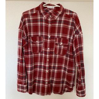 ローリーズファーム(LOWRYS FARM)のチェックシャツ赤 ローリーズファーム(シャツ/ブラウス(長袖/七分))