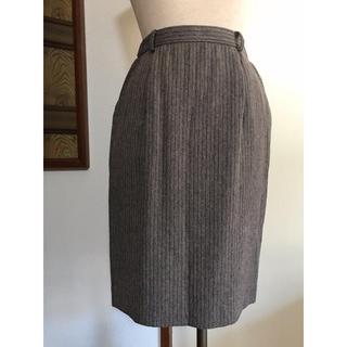 レリアン(leilian)のストライプスカート(ひざ丈スカート)