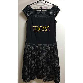 TOCCA - 美品 TOCCA 花柄 ワンピース XS ブラック 日本製 トッカ 黒