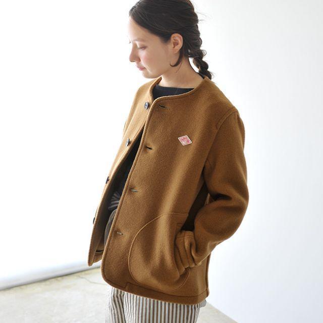 DANTON(ダントン)の 新品 DANTON ウールモッサ カラーレスジャケット レディースのジャケット/アウター(ノーカラージャケット)の商品写真
