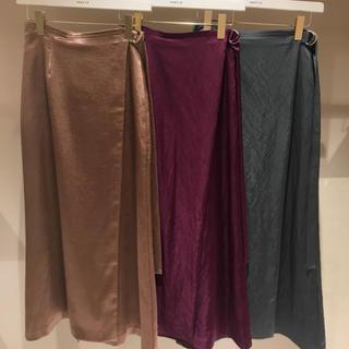 フレイアイディー(FRAY I.D)のFRAY I.D フレイアイディー サテンナロースカート size1(ロングスカート)