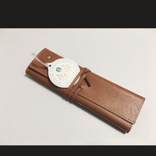Starbucks Coffee - 韓国 スターバックス 革製 ペンケース