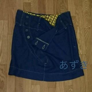 ヴィヴィアンウエストウッド(Vivienne Westwood)のスクイグルデニムスカート(ひざ丈スカート)