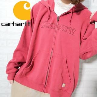 カーハート(carhartt)の【人気】Carhartt  ロゴ ステッチ 刺繍 ビックサイズ ジップパーカー(パーカー)