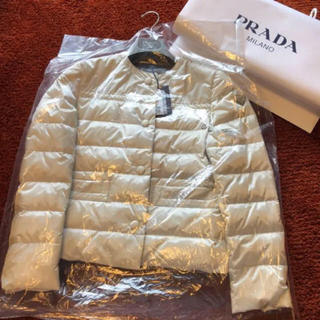 PRADA - 新品タグ付 18年プラダ 今から着れる!ダウンジャケット ブルゾン モンクレール