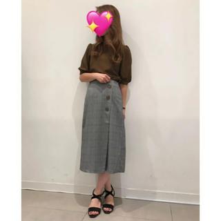 GU - GU☆新品☆グレンチェックラップミディスカート