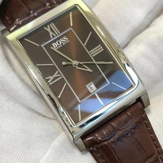 ヒューゴボス(HUGO BOSS)のHUGO BOSS メンズ 腕時計 クォーツ   茶色 ブラウン(腕時計(アナログ))