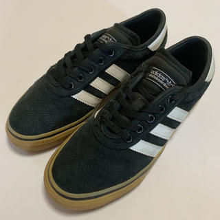 アディダス(adidas)のadidas skatebording スウェード ガムソール 黒 ブラック(スニーカー)