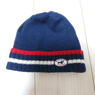 ミキハウス(mikihouse)のミキハウス ライン入りニット帽 52~56(帽子)