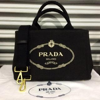 PRADA - PRADA カナパ ブラック 人気のSサイズ ミニ