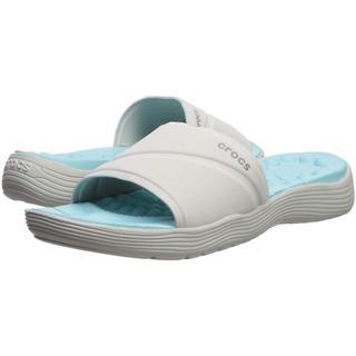クロックス(crocs)のクロックス シャワーサンダル リバイバ スライド  23cm Pearl Whi(サンダル)