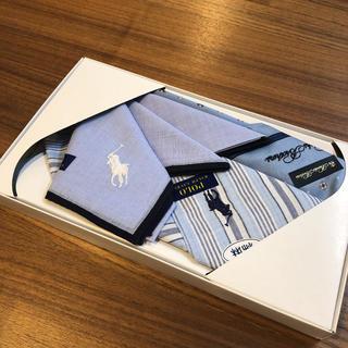 ポロラルフローレン(POLO RALPH LAUREN)のポロ ラルフローレン ハンカチ 3枚セット(ハンカチ/ポケットチーフ)
