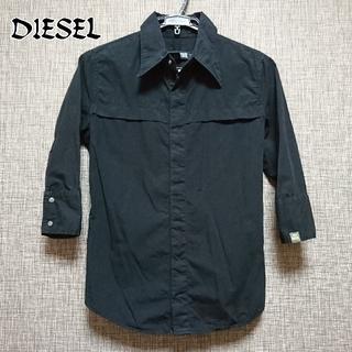 DIESEL - 【DIESEL】ディーゼル 5~7分丈シャツ 黒[送料込み!値下げ不可]