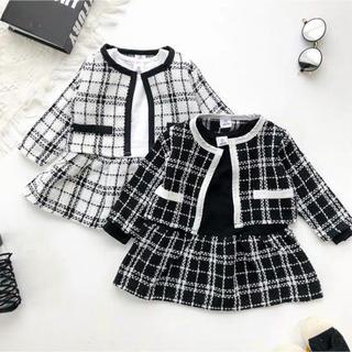 新品!ブラック 110cm フォーマル セットアップ ワンピース☆韓国子供服(ワンピース)