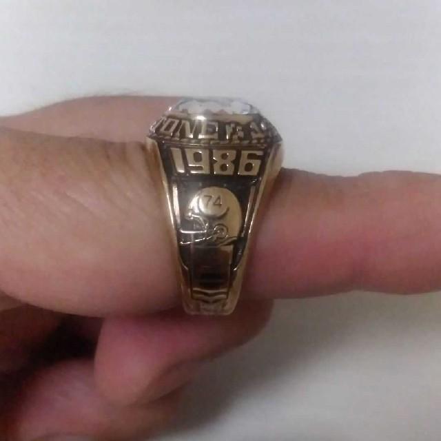 カレッジリング ビィンテージ ジャスティンズ 1986 メンズのアクセサリー(リング(指輪))の商品写真