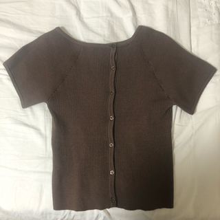 カスタネ(Kastane)のkastane ワンショルリブ釦Tee(Tシャツ(半袖/袖なし))
