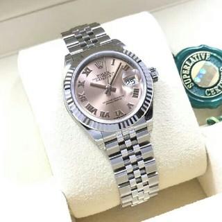 ROLEX - Rolexロレックスの日誌型の粉の28 mmローマの字の機械の女子時計