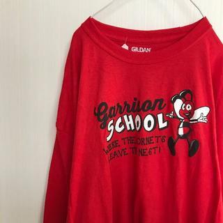 ギルタン(GILDAN)のアメリカ古着! Tシャツ XXL GILDAN 赤 ビッグシルエット [91](Tシャツ/カットソー(七分/長袖))