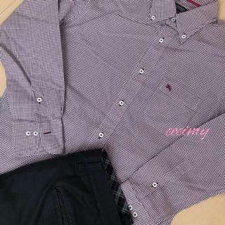バーバリーブラックレーベル(BURBERRY BLACK LABEL)のブランドマーク入✨メンズ🌸チェック🌷美品💞バーバリー💐(シャツ)