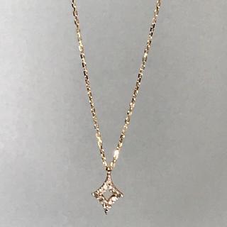 agete - agete アガット 菱形ラフダイヤ ネックレス
