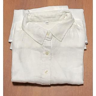 ムジルシリョウヒン(MUJI (無印良品))の無印良品 リネン シャツ 白 Sサイズ(シャツ/ブラウス(長袖/七分))