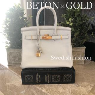 エルメス(Hermes)のレア◆ベトン×ゴールド金具◆バーキン30(ハンドバッグ)