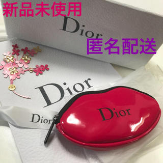 ディオール(Dior)のディオール Dior  ポーチ リップ型 レッド 限定 レア ノベルティ 非売品(ポーチ)