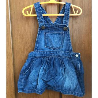 ベビーギャップ(babyGAP)のGAP デニム ジャンパースカート 80 オーバーオール ベビー(ワンピース)