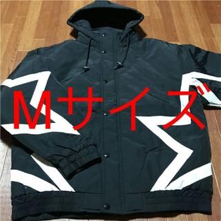 シュプリーム(Supreme)のSupreme2019ss Stars Puffy Jacket 黒 Mサイズ(ダウンジャケット)