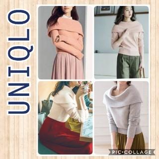 ユニクロ(UNIQLO)のラムブレンドオフタートルネックセーター(ニット/セーター)