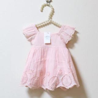 ベビーギャップ(babyGAP)の【定価半額】babyGAP♡新品♡85♡アイレットレースワンピース・ピンク(ワンピース)