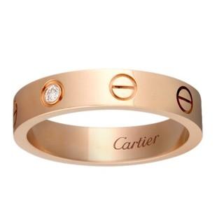 カルティエ(Cartier)のカルティエ18 KローズゴールドドリルLOVE(リング(指輪))