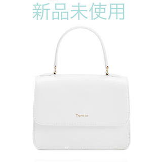 レペット(repetto)の新品未使用 レペット ハンドバッグ ホワイト 白 定価54000円(ハンドバッグ)