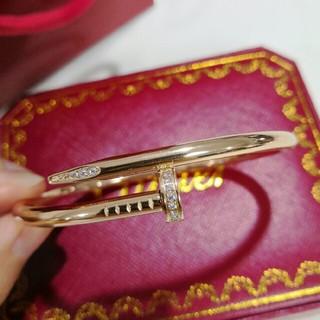 カルティエ(Cartier)の☆可愛い☆  カルティエ ブレスレット 刻印 ピンク(ブレスレット/バングル)
