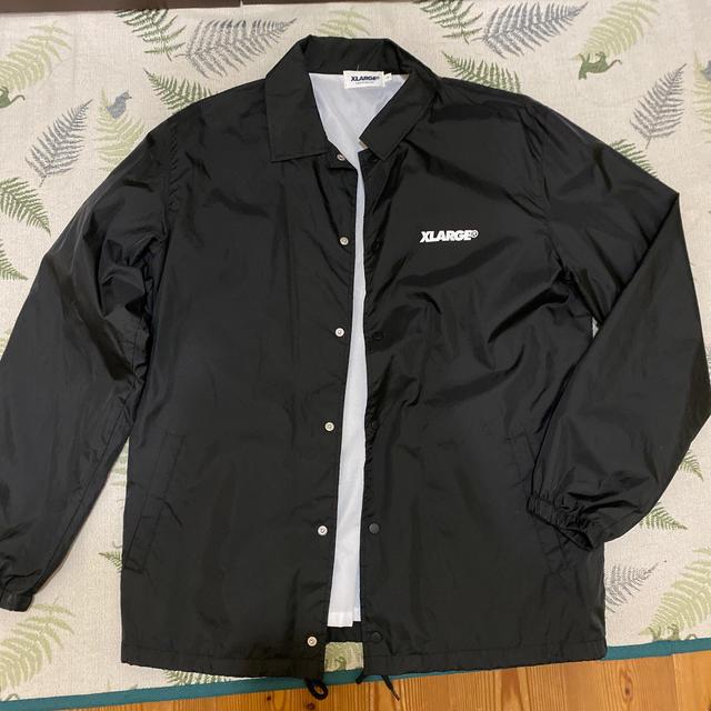 XLARGE(エクストララージ)のXLARGE  コーチジャケット ブラック メンズのジャケット/アウター(ナイロンジャケット)の商品写真