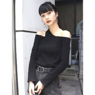 EMODA - 新品 EMODA  今期新作 カッティングフィットロンT  Tシャツ ニット