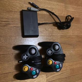 ニンテンドースイッチ(Nintendo Switch)のSwitch ゲームキューブコントローラー 変換器 セット(その他)