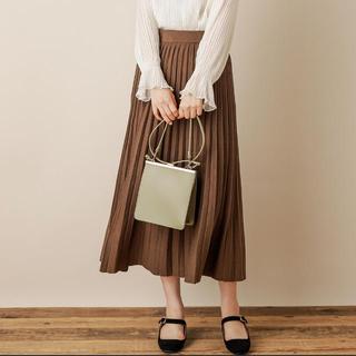 ナチュラルクチュール(natural couture)のプリーツロングニットスカート 【2019AW natural couture】(ロングスカート)