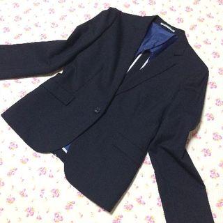 オリヒカ(ORIHICA)のオリヒカ パンツスーツ 上13下11 W80 大きい 黒 OL(スーツ)