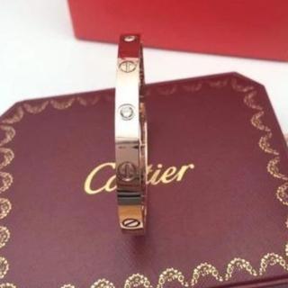 カルティエ(Cartier)のカルティエ ラブブレス ハーフダイヤ 16 K18PG(ブレスレット/バングル)