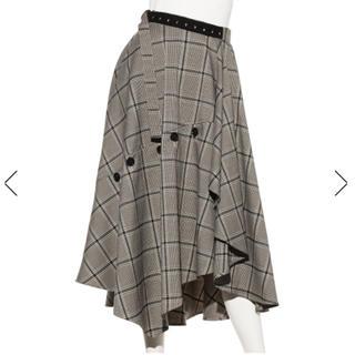 正規品 タグ付 チェックツィードスカート