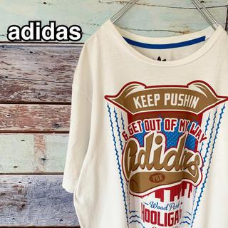 adidas - 【美品】アディダス オリジナルス Oサイズ Tシャツ ホワイト 白