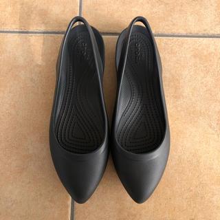 クロックス(crocs)の美品 クロックス イヴ スリングバック w7  23cm〜24cm 黒(サンダル)