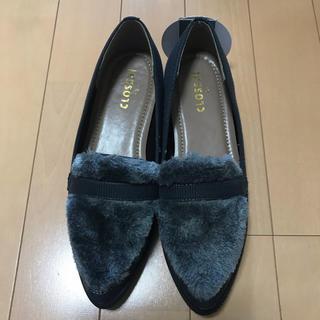 シマムラ(しまむら)のフロントエコファーローファー♡Sサイズ(ローファー/革靴)